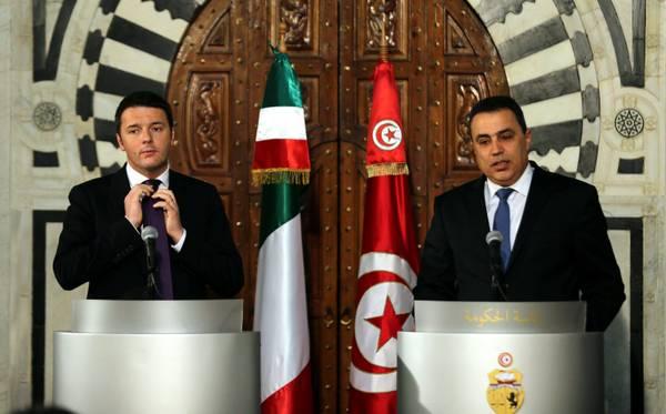 Italian Prime Minister Matteo Renzi visits Tunisia