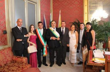 Orlando  incontra sindaco di Palermo colombiana