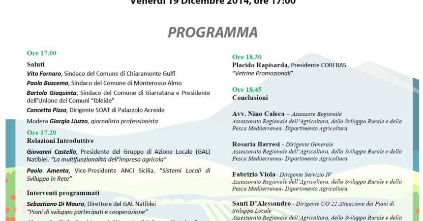 Gal Natiblei e la nuova programmazione 2014-2020, convegno a Chiaramonte Gulfi