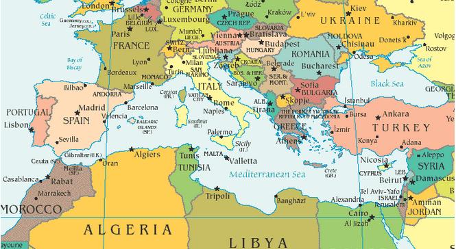 Cartina Paesi Mediterraneo.Mediterraneo Agenda Settimanale Dal 23 Febbraio Al 1mo Marzo Sicilia Internazionale