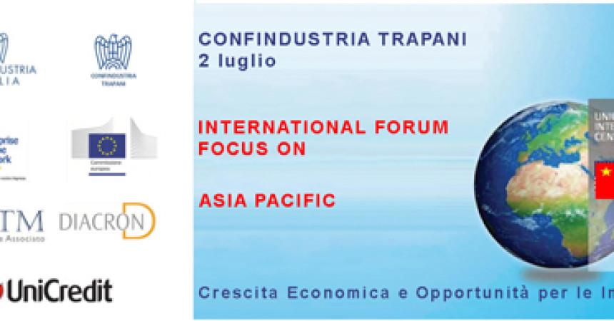 Trapani, International Forum:  focus Asia Pacific