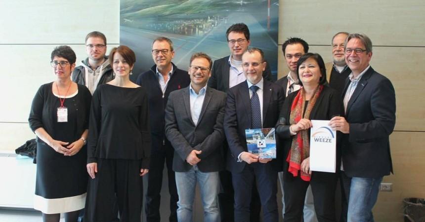 Press tour di giornalisti tedeschi per l'inaugurazione del volo Comiso-Weezel