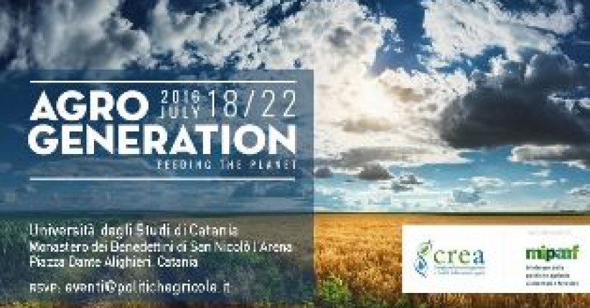 Agrogeneration: a Catania le sfide dell'alimentazione globale