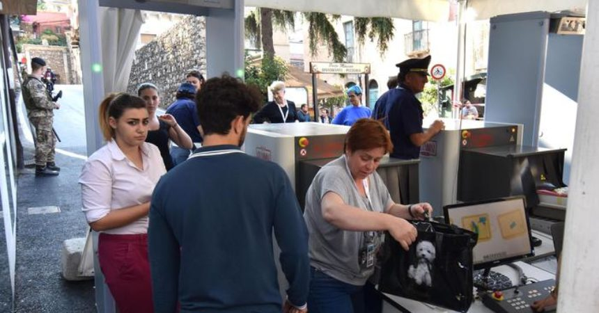 G7: massima allerta a Taormina, body cam e metal detector