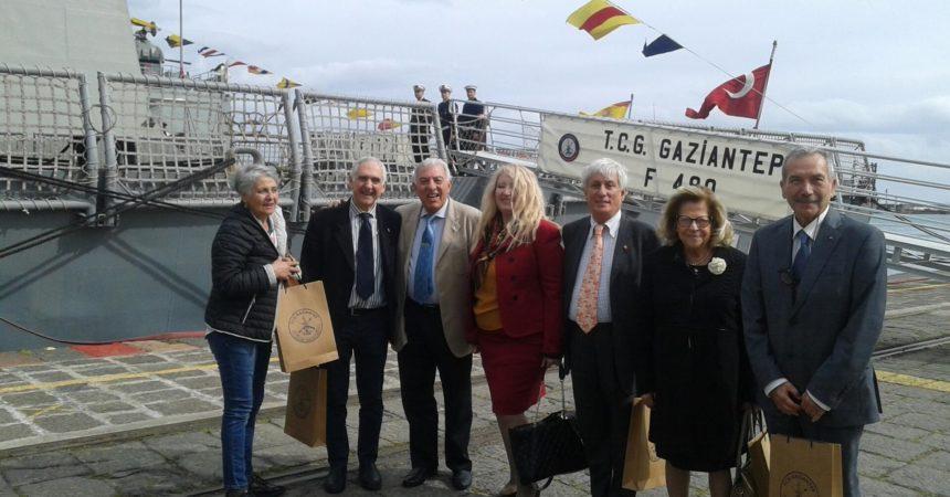 Celebrato a Catania l'anniversario della battaglia di Gallipoli a bordo della fregata turca