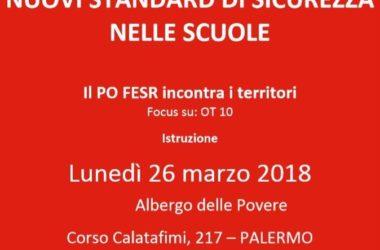 Fondi europei: lunedì 26 a Palermo incontro territoriale del Po Fesr Sicilia su istruzione ed edilizia scolastica
