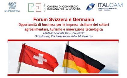 Forum Svizzera Italia e Germania a Palermo il 24 aprile