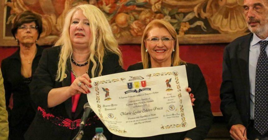 Premio internazionale Virdimura alla Presidente della Repubblica di Malta,  tra medicina cultura e pace.