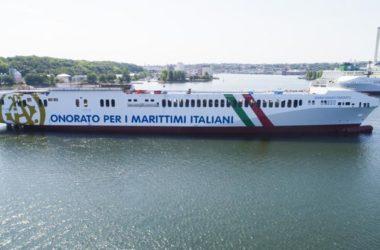 La Maria Grazia Onorato posizionata sulla Genova-Livorno-Catania-Malta