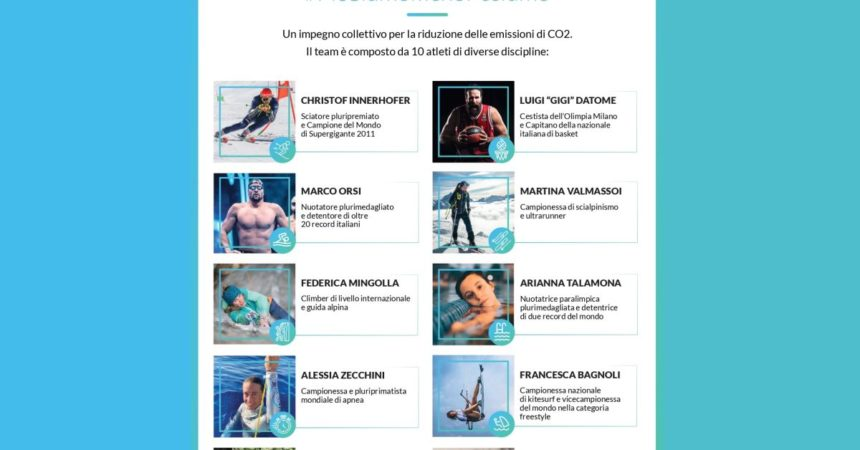"""Engie Planet Ambassador"", 10 atleti uniti per pesare meno sul pianeta"