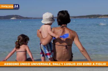 Assegno unico: 250 euro per ogni figlio fino a 21 anni di età