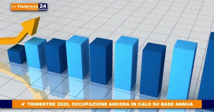 4° trimestre 2020, occupazione ancora in calo su base annua