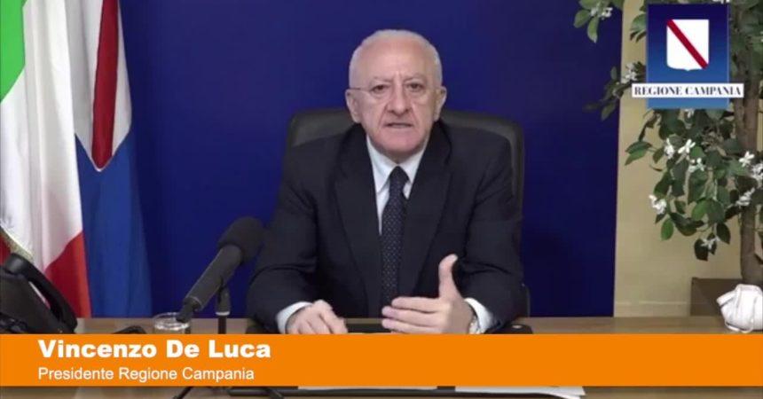 """De Luca """"Accordo per Sputnik in Campania, pronti a fornire dosi"""""""