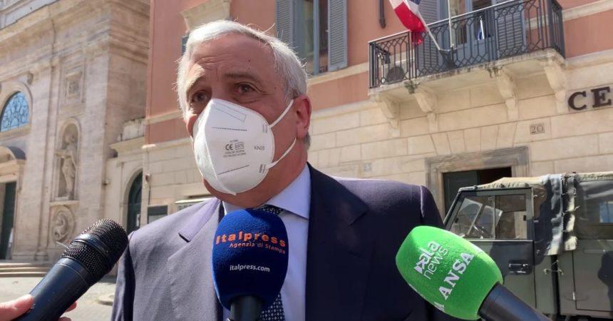 """Tajani """"Sarebbe meglio avere la zona gialla"""""""