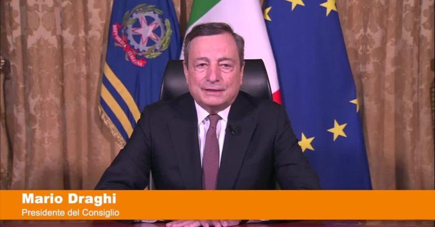 """Draghi """"Con il Recovery Plan più investimenti al Sud"""""""