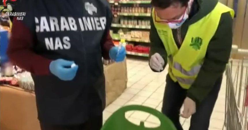 Nas nei supermercati, 18 tamponi positivi e 12 esercizi chiusi