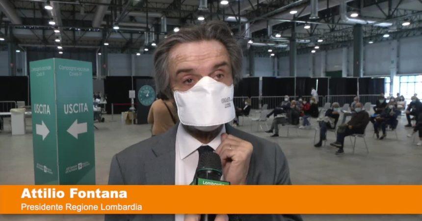 Fontana visita hub vaccinali di Crema, Soresina e Cremona