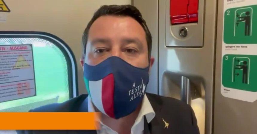 """Salvini """"Il coprifuoco non ha senso"""""""