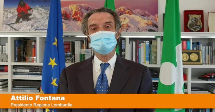 """Fontana """"Ufficiale, Lombardia in zona gialla da lunedì"""""""