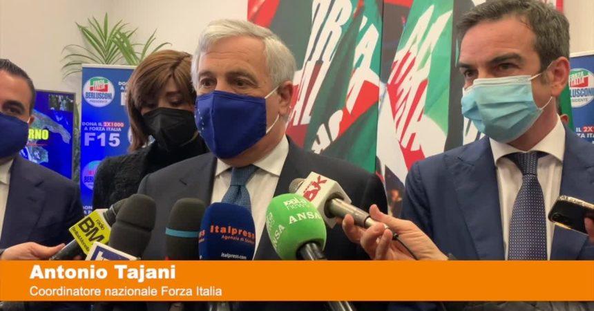 """Tajani """"Cambio di passo con nostra presenza al governo"""""""