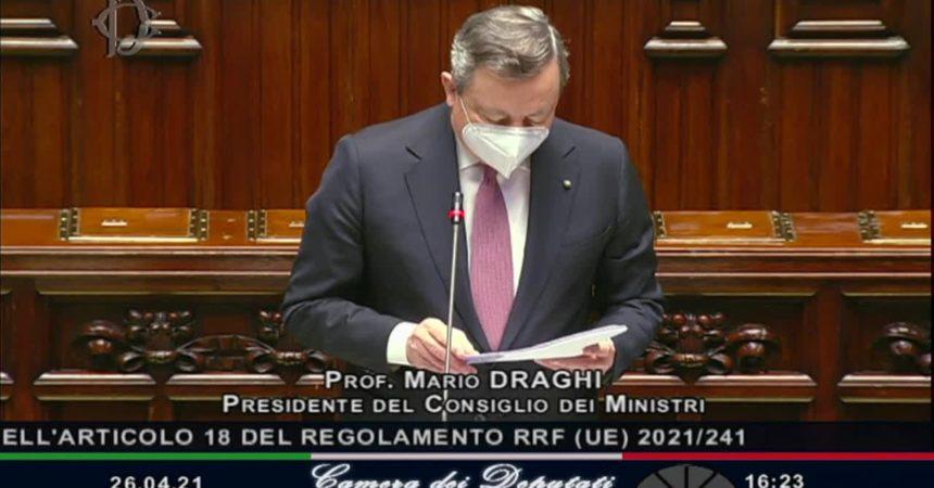 """Draghi """"Nel Recovery Plan il destino del Paese"""""""
