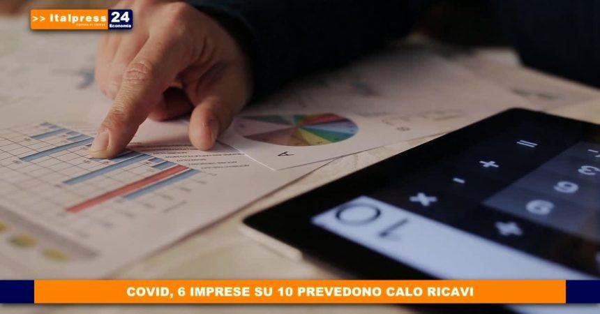 Covid, 6 imprese su 10 prevedono calo ricavi