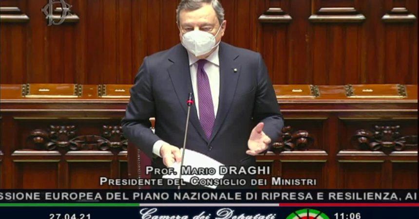 """Recovery, Draghi """"Dialogo con il Parlamento è solo all'inizio"""""""