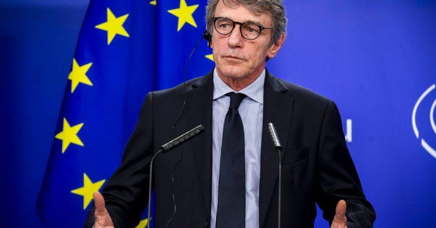 """Ue, Sassoli """"Per il dopo Covid riforma del Patto di Stabilità"""""""
