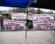 Lavoratori Ideal Standard in sciopero manifestano al Giro d'Italia