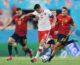 Lewandowski replica a Morata, Spagna-Polonia 1-1