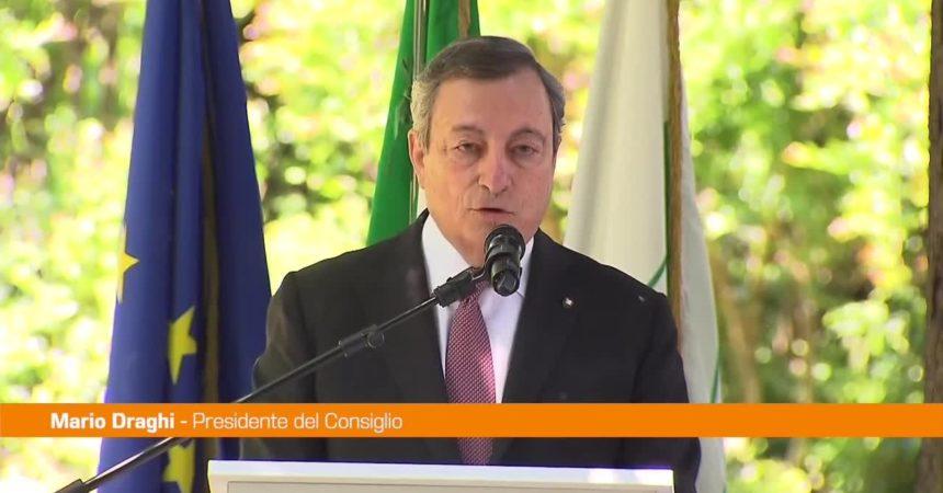 """Draghi: """"Italia sia unita per la ripartenza"""""""