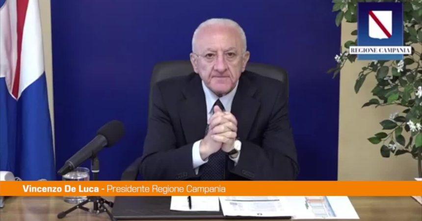 "De Luca: ""Vicenda AstraZeneca sconcertante"""