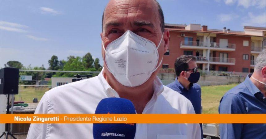 """Roma, Zingaretti: """"Stiamo aprendo i cantieri, stop chiacchiere"""""""