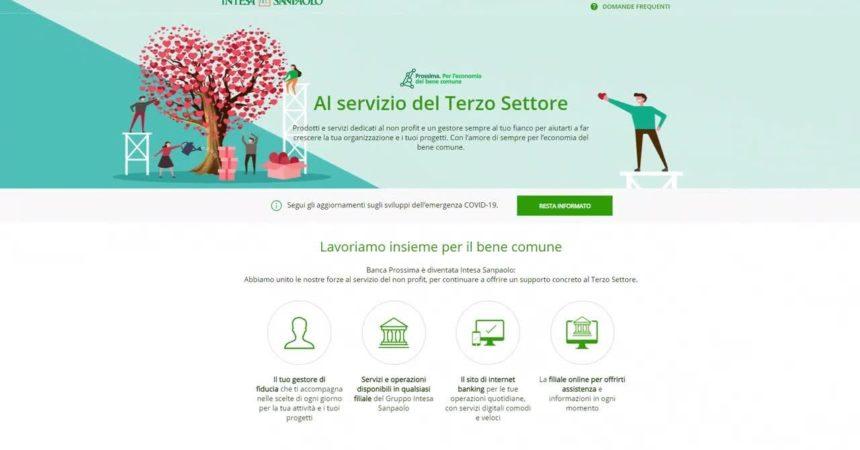 """Terzo settore. """"Noi ripartiamo"""", il roadshow digitale di Intesa Sanpaolo"""