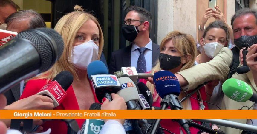 """Amministrative, Meloni: """"Centrodestra compatto"""""""
