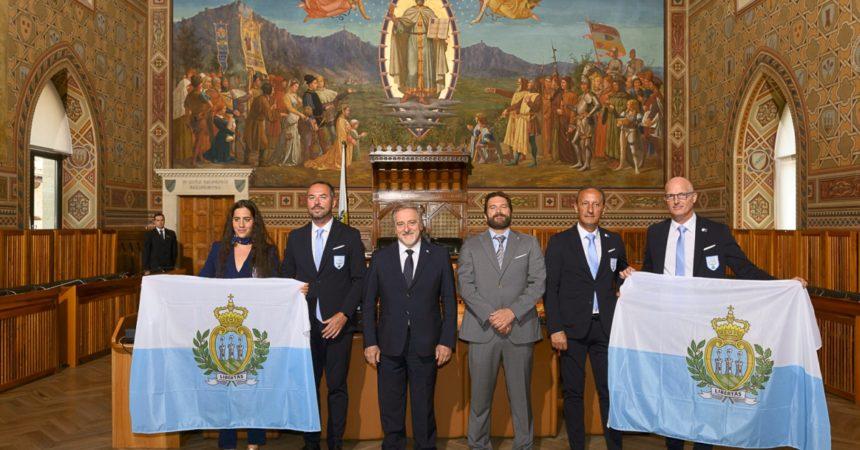 Consegnate le bandiere, parte l'avventura olimpica di San Marino