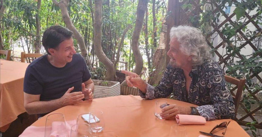 """M5S, Grillo incontra Conte """"E ora pensiamo al 2050"""""""