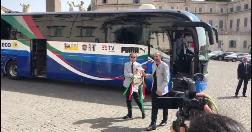 La Nazionale campione d'Europa al Quirinale
