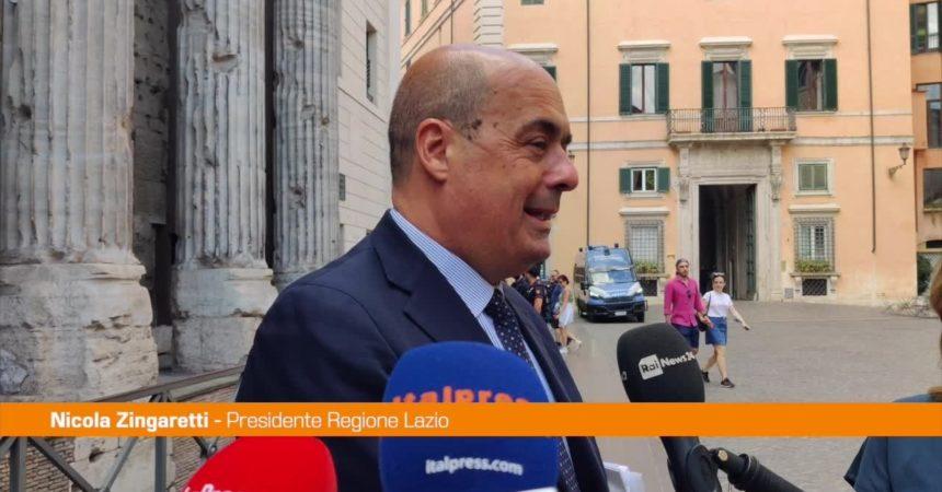 """Zingaretti: """"La Regione Lazio ha fatto legge sulla parità salariale"""""""