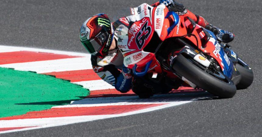 Bagnaia conquista la pole position al Gp di Aragon