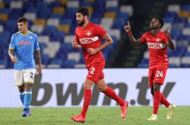 Napoli-Spartak Mosca 2-3, primo ko stagionale per i partenopei