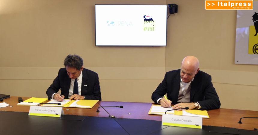Transizione energetica, partnership Eni-Agenzia per le Rinnovabili