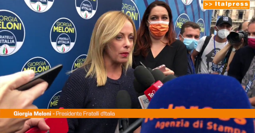"""Milano, Meloni: """"Sfida aperta, puntiamo alla vittoria"""""""