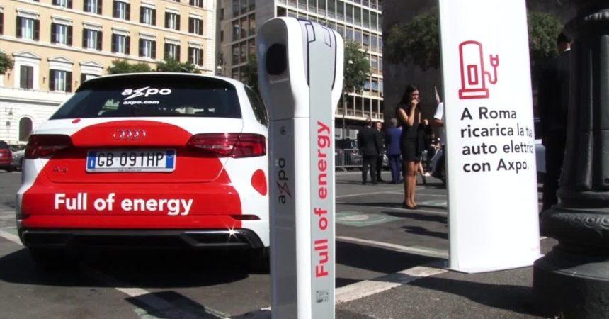 Mobilità elettrica, a Roma arrivano le colonnine di ricarica di Axpo Italia