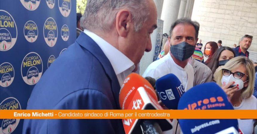"""Amministrative Roma, Michetti: """"Preso distanze da candidata no vax"""""""