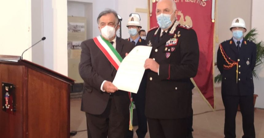 Palermo, Comune conferisce cittadinanza onoraria all'Arma dei Carabinieri