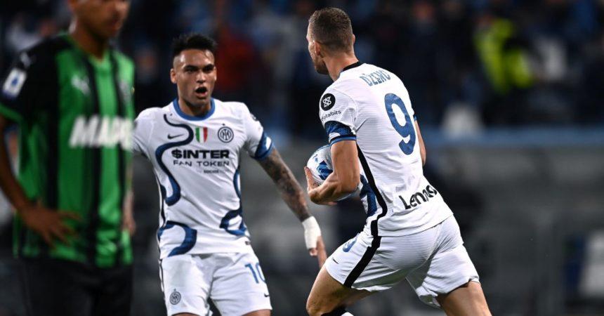 L'Inter vince in rimonta, 2-1 in casa Sassuolo
