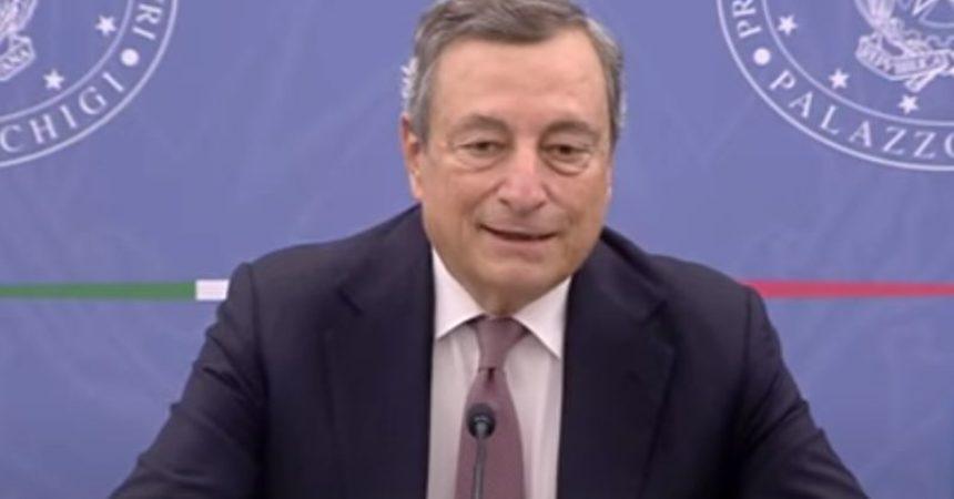 """Fisco, Draghi """"Diversità di vedute, ma azione Governo va avanti"""""""