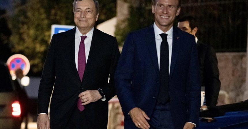 Draghi incontra Macron, confronto sui temi del vertice G20