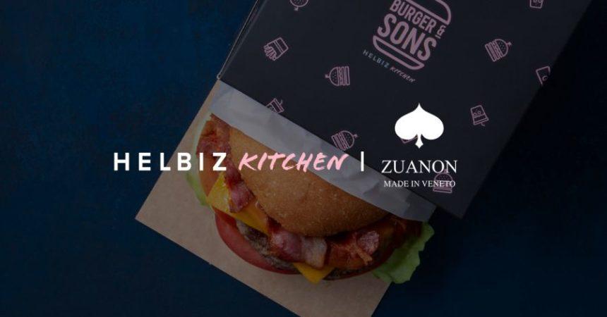 Partnership tra Helbiz Kitchen e Zuanon nel segno della sostenibilità